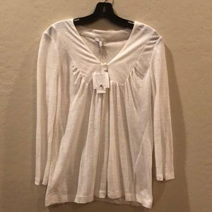 Joie white long sleeve tee